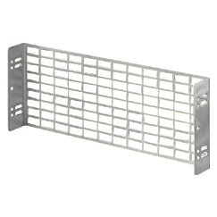 PERFORATED PLATE - IN GALVANISED STEEL - FIXING BY MEANS OF UPRIGHTS - 1X28 MODULES
