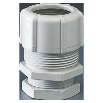 Shockproof polymer conduit/box couplings Grey RAL 7035