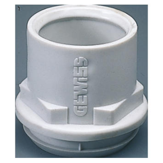 FLEXIBLE POLYMER CONDUIT/BOX COUPLING - MOUNTING HOLE Ø 48MM - FOR CONDUIT Ø 50MM - GREY RAL 7035 - IP44
