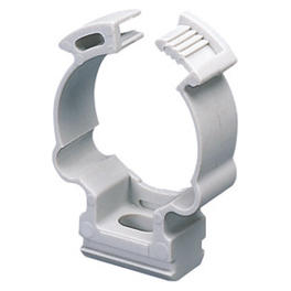 SHOCKPROOF POLYMER SADDLE COLLAR CLIP - FOR EXTERNAL CONDUITS Ø 20MM - GREY RAL 7035