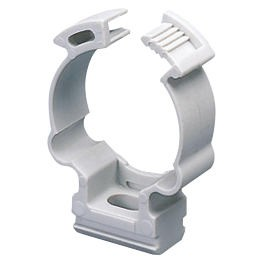 Shockproof polymer saddle collar clip - Grey RAL 7035