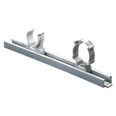 MODULAR LOCK-JOINT RAIL TO FIX SHOCKPROOF POLYMER SUPPORTS - GREY RAL7035
