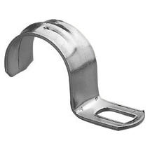 GALVANISED STEEL CLIP - HOLE 12X6MM - Ø 14-15MM