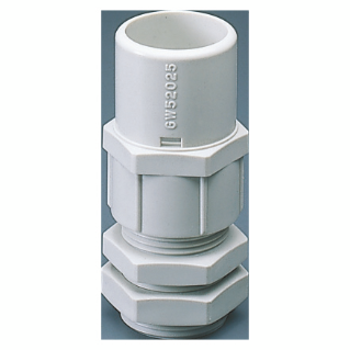 NYLON CABLE GLAND WITH HOUSING FOR RIGID CONDUIT - PG PITCH 36 FOR CONDUITS Ø 40MM - GREY RAL 7035 - IP66