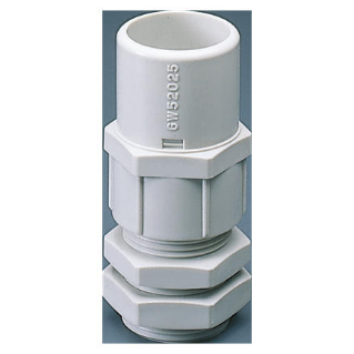 NYLON CABLE GLAND WITH HOUSING FOR RIGID CONDUIT - PG PITCH 29 FOR CONDUITS Ø 32MM - GREY RAL 7035 - IP66