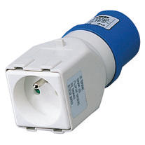 SYSTEM ADAPTOR - FROM INDUSTRIAL TO DOMESTIC IP44 - SOCKET-OUTLET 2P+E 16A 230V ac 50/60HZ - 1 PLUG 2P+E 16A FRENCH STD
