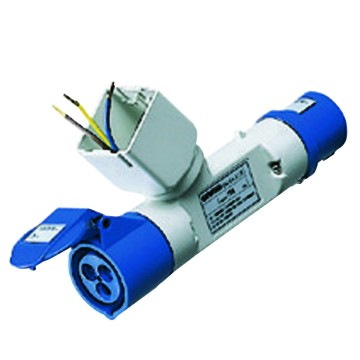Conversion adaptors:  IEC 309 plug fitting for 2 SYSTEM modules/IEC 309 socket-coupler IP44 - 50/60Hz