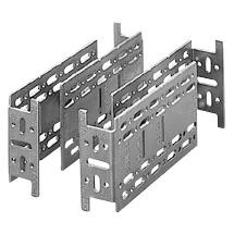 Galvanized steel extending brackets for rear fixing, complete with self-tapping screws - Set of 4 brackets - 70 RT range
