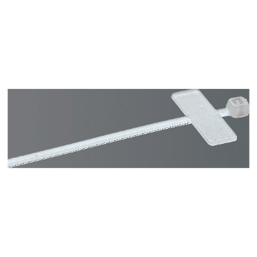 Cable ties with identification tag in colourless polymer