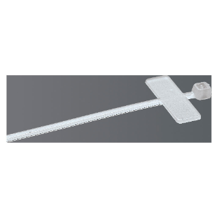 CABLE TIE - WITH IDENTIFICATION TAG - 2,5X200  -COLOURLESS