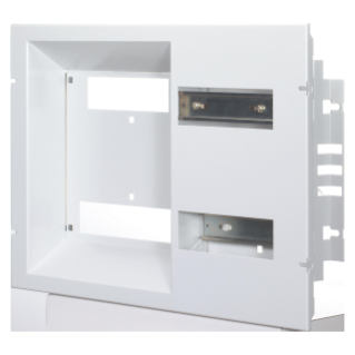 FRONT PANEL WITH WINDOWS CVX 160I - FOR THE EDF BLUE TARIFF CONNECTING SWITCH AND DIN EN50022 RAIL - FRENCH STANDARD - 24(2X12)MODULES - 600X300MM