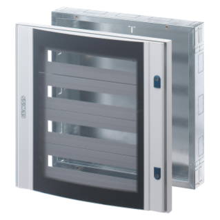 CVX DISTRIBUTION BOARD 160I - FLUSH-MOUNTING - 600x1000x105 - 144(24x6) MODULES - IP40 - GLASS DOOR WITH 2 LOCKS - GREY RAL7035