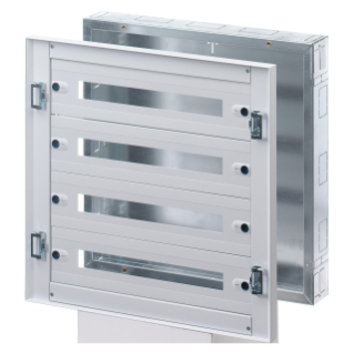CVX DISTRIBUTION BOARD 160I - FLUSH-MOUNTING - 600x600x105- 96(24x4) MODULES - IP30 - WITHOUT DOOR - GREY RAL7035