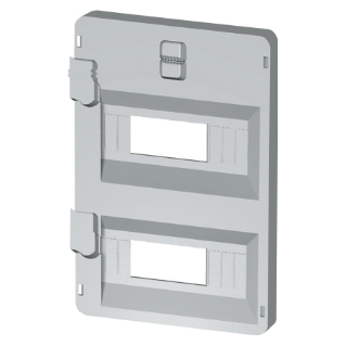 FRONT PANEL WITH WINDOWS 14 MODULES 316X396 ENCLOSURES - GREY RAL7035