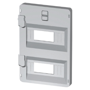 FRONT PANEL WITH WINDOWS 8 MODULES 236X316 ENCLOSURES - GREY RAL7035