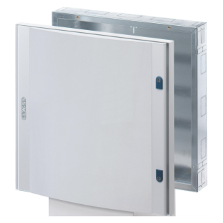 CVX DISTRIBUTION BOARD 160I  - FLUSH-MOUNTING - 600x1000x105 - 144(24x6) MODULES  - IP40 - BLANK DOOR IN SHEET METAL- WITH 2 LOCKS -GREY RAL7035