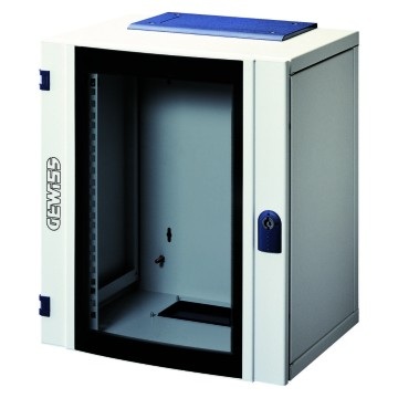 WALL-MOUNTING SOHO DISTRIBUTION BOARDS - IN METAL - TRASPARENT DOOR IN TEMPERED GLASS - 350x400x265 - CABLING 8U
