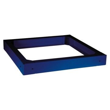Plinth for floor-mounting cabinets H=100 mm in painted metal colour Blue RAL 5003