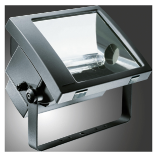 TITANO - WITH LAMP - SYMMETRICAL RESTRICTED BEAM OPTIC - 250 W MT E40 230 V-50 Hz - IP66 - CLASS I - GRAPHITE GREY
