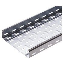 CABLE TRAY WITH TRANSVERSE RIBBING IN GALVANISED STEEL BRN50 - WIDTH 65MM - FINISHING: Z 275