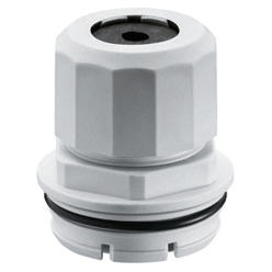 CABLE - TRIX/QUADRIX CABLE GLAND UNION - FOR CABLE Ø 3-6MM - HALOGEN FREE - GREY RAL7035