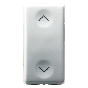 THREE-WAY SWITCH 2P 250V ac - 10AX - NEUTRAL - SYMBOL UP-DOWN - 1 MODULE - SYSTEM WHITE