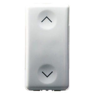 THREE-WAY SWITCH 1P 250V ac - 16AX - NEUTRAL - SYMBOL UP-DOWN - 1 MODULE - SYSTEM WHITE