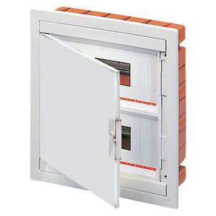 FLUSH MOUNTING ENCLOSURE - WITH BLANK DOOR - PRE-FITTED WITH TERMINAL BLOCK HOUSING (12X2) 36 MODULES IP40