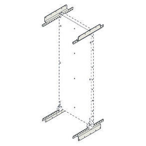 SUPPORTS FOR FULL HEIGHT BACK MOUNTING PLATES - CVX 1600 - D=600