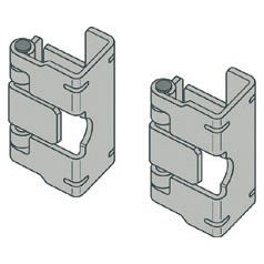 Pair of metal hinges for front panels