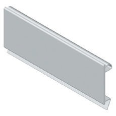 Blanking module profile in plastic material - Colour grey RAL 7035