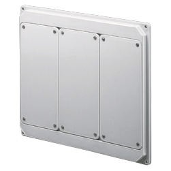 Flanged panels prearranged for assembly of socket-outlets - Grey RAL 7035