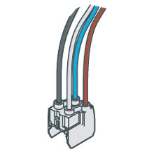 QUICK COUPLING CONNECTIONS WITH CABLE FOR MODULAR DEVICES - GWFIX 100 - 40A L1/L2/L3/NEUTRAL MODULAR ACCESSORIES 90 RANGE/MTHP/SD/SE - 2 MODULES