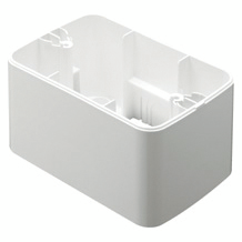 WALL-MOUNTING BOX - FOR TOP SYSTEM PLATE - 1/2/3 GANG - CLOUD WHITE - SYSTEM
