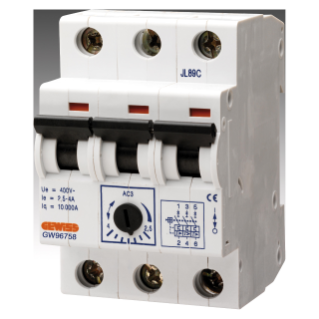 MOTOR PROTECTION SWITCH - In=0,25A OPERATING CURRENT 0,16-0,25A - 3 MODULES