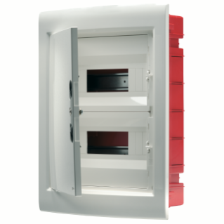 DISTRIBUTION BOARD - PANEL WITH WINDOW AND EXTRACTABLE FRAME - BLANK DOOR - TERMINAL BLOCK N 2X[(3X16)+(17X10)] E 2X[(3X16)+(17X10)] - 36M (18X2) IP40