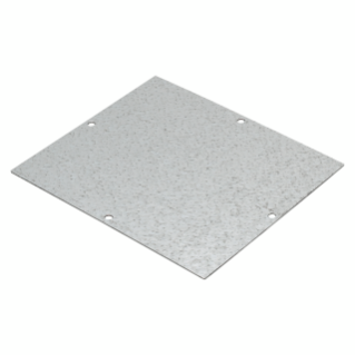 BACK-MOUNTING PLATE IN GALVANISED STEEL - FOR BOXES 239X202