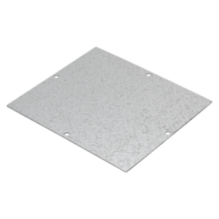BACK-MOUNTING PLATE IN GALVANISED STEEL - FOR BOXES 345X260