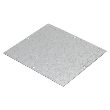 Back-mounting plate in galvanised steel