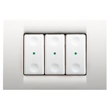 PUSH-BUTTON PANELS FOR WIRELESS COMMANDS - VIRNA PLATE - 3 CHANNELS - CLOUD WHITE - SYSTEM WHITE