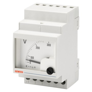 Single-phase analogue voltmeters with direct connection - 40/60 Hz