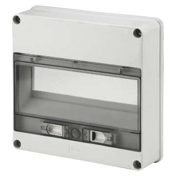 12-module watertight enclosure front for Q-BOX - IP55