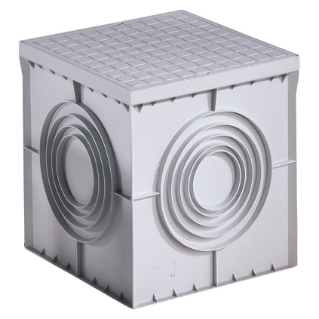 SQUARE ACCES CHAMBER 400X400X400 - FLAT KNOCKOUT BASE AND HIGH RESISTANCE LID