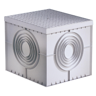 SQUARE ACCES CHAMBER 550X550X520 - FLAT KNOCKOUT BASE AND HIGH RESISTANCE LID
