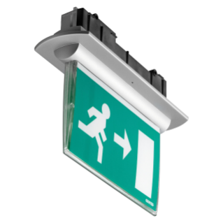 STARTEC EIB - LED - DOUBLE SIDE DEVICE - FLUSH MOUNTING - MANTEINED - 3W 1h - 230V 50/60Hz - IP42 - CLASS II - WHITE