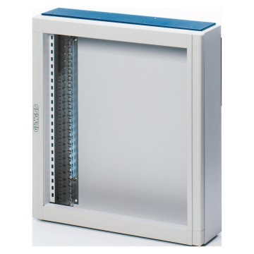 Monobloc distribution boards in painted sheet steel - Colour grey RAL 7035 Without door - With extractable frame