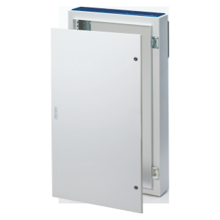 CVX DISTRIBUTION BOARD 160E - SURFACE-MOUNTING - 600x600x170 - IP55 - WITH SOLID SHEET METAL DOOR - 2 LOCKS - WITH EXTRACTABLE FRAME - GREY RAL7035