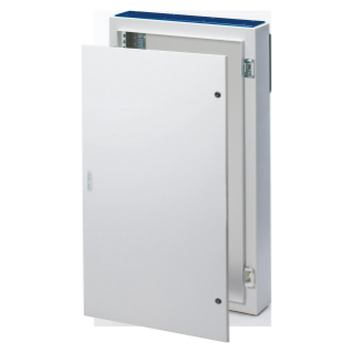 CVX DISTRIBUTION BOARD 160E - SURFACE-MOUNTING - 600x1000x170 - IP55 - WITH SOLID SHEET METAL DOOR - 2 LOCKS - WITH EXTRACTABLE FRAME - GREY RAL7035