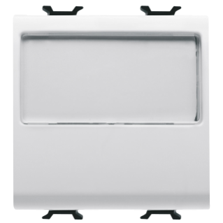 PUSH-BUTTON WITH ILLUMINATED NAME PLATE 250V ac - NO 10A - 2 MODULES - WHITE - CHORUS