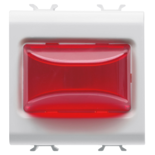 PROTRUDING INDICATOR LAMP - 12V ac/dc / 230V ac 50/60 Hz - RED - 2 MODULES - WHITE - CHORUS